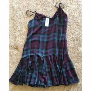 NWT Polo Ralph Lauren Sleeveless Silk Plaid Dress